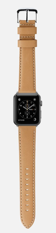 Apple Watch Sport + @shinola Natural leather strap, would be a nice combo