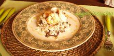 Risotto con radicchio, gamberi all'aglio e miele