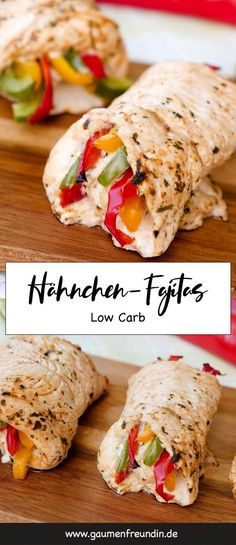 Fast low carb chicken fajita rolls with delicious marinade - Low carb chicken f. Fast low carb chicken fajita rolls with delicious marinade – Low carb chicken fajitas out of the Healthy Food Recipes, Low Carb Recipes, Diet Recipes, Quick Recipes, Wrap Recipes, Pasta Recipes, Yummy Recipes, Cookie Recipes, Low Calorie Meals