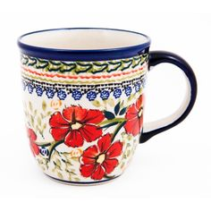 This elegant mug has a 12 ounce capacity and is crafted with quality Polish Stoneware. Floral designs in a multitude of colors adds the perfect touch. Set includes: One (1) mug Materials: Stoneware Ca