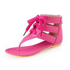 Thong Cross Strap Flip-Flops Sandals