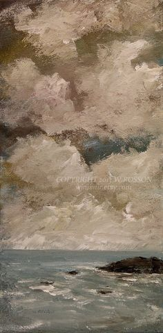 """""""Silent Placidity"""" Original Seascape Painting by W.Rosson"""