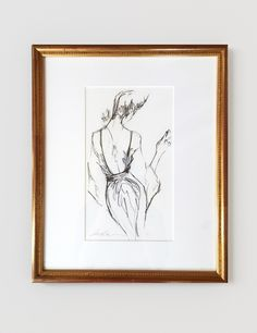 The Perfect Pencil Sketch (framed original) | Inslee By Design