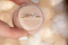 Lady's Slipper Half Carat Diamond Engagement Ring by Melanie Casey Fine Jewelry
