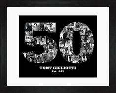 Milestone Birthday. 50th Birthday. 10th Birthday. 25th anniversary. Great for any occasion. Created by Gumball Prints.