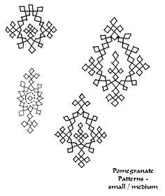 Pomegranate Medallion Patterns - sm & med