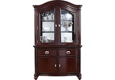 Shop for a Mansell Manor 2 Pc China Cabinet at Rooms To Go. Find China Cabinets that will look great in your home and complement the rest of your furniture. At Home Furniture Store, Space Furniture, Cabinet Furniture, Painted Furniture, Glass Cabinet Doors, Glass Shelves, Glass Door, Dining Room Table Decor, Cabinets For Sale