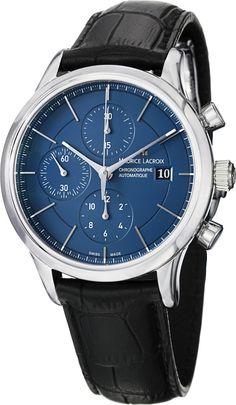 Men watches : Maurice Lacroix Les Classique Men's Automatic Chronograph Watch LC6058-SS001-430