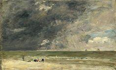 Eugène Boudin –  Plage à Trouville, 1890, National Gallery, Londres