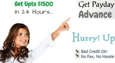 If you are looking financial support with the hassle free manners for your unexpected financial crisis than you can apply Quick Payday Advance Loans with the simple online application process. This fund do not require any application charges, you can apply without any delay and obligation. Read More : - http://www.getpaydayadvance.net/quick-payday-advance-loans.html