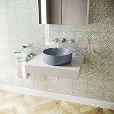 Mode Orion lilac grey coloured countertop basin 355mm Countertop Basin, Countertops, Wall Mounted Basins, Lilac Grey, Basin Taps, Bathroom Basin, Basin Mixer, Vanity Units, Glazed Ceramic