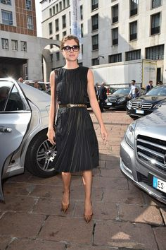Vittoria Puccini wearing Salvatore Ferragamo at the Women's Spring-Summer 2015 Runway Show