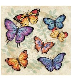 Stitch a beautiful design to adorn your home decor with the Dimensions Butterfly Profusion Counted X-Stitch Kit. It features bright colors and detailed designs that are fun to stitch. Including comple