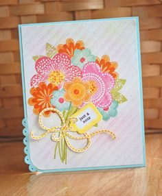 I think NOT! Just got some new PTI stamp sets.Yes they are flowers :)) and some strings . I can't tie a bow to save my life. Cute Cards, Pretty Cards, Tiny Tags, Flower Stamp, Ink Stamps, Scrapbooking, Stampin Up Cards, Cardmaking, Stamping