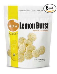 WOW BAKING COMPANY Cookies, Lemon Burst, Gluten Free 8-Ounce (Pack of 6): Very yummy and just a little sweet
