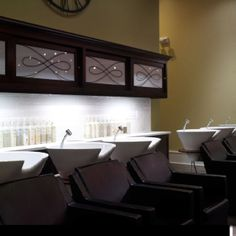 Back Bar Shampoo Bowls Salon Area Hair And Nail