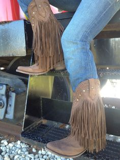 WOW Country fringe boots. I want these but in black.
