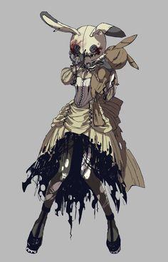 mimikyu | Tumblr Fantasy Character Design, Character Design Inspiration, Character Art, Dark Fantasy Art, Art Sinistre, Gijinka Pokemon, Art Mignon, Pokemon Fan Art, Pokemon Oc