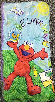 Elmo Elmo's World Sesame Street Sleeping Bag 2000 Bedding Fabric Cutter, Elmo, Sleeping Bag, Bedding, Street, World, Bags, Fictional Characters, Handbags