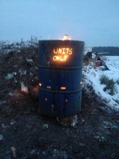 Oil Barrel fire pit plasma cut