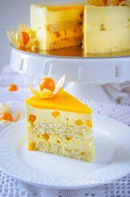 Torcik z musem mango Mango Mousse, Food Cakes, Pavlova, Vanilla Cake, Red Velvet, Cake Recipes, Panna Cotta, Cheesecake, Cooking Recipes