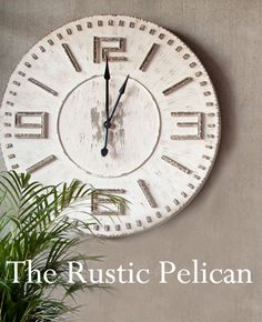 Huge Clock Rustic Wood Large Wooden Wall Clock  by RusticPelican