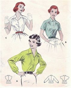 1950's Blouse | Sew These Inspiring Vintage Sewing Patterns For An Ultimate Throwback