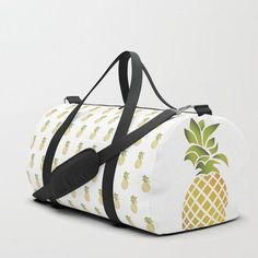 We upped the Duffle Bag game. Your new favorite gym and travel bags feature crisp printed designs on Pineapple Room, Pineapple Clothes, Cute Pineapple, Pineapple Pattern, Pineapple Express, Pineapple Whip, Diy Bag Strap, Bags Game, Bag Women
