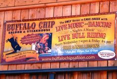 Buffalo Chip Saloon --- Cave Creek, Arizona.   (Fun times here with Cheryl, Juergen, & their friends ... LIVE Country-Western Band and YUMMY S'mores!!)
