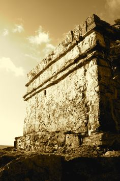 Mayan Ruins at Riveria Maya Caribbean Coast near Cancun, Mexico.