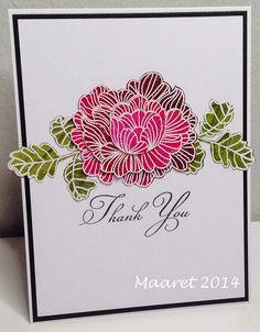 Papertrey Ink - in bloom embossattu kerroskukkanen