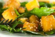 Moliūgų ir špinatų salotos