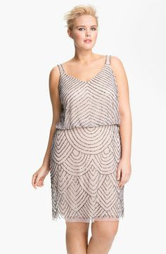 Adrianna Papell Beaded Blouson Tank Dress (Plus) available at #Nordstrom