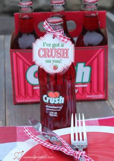 I've Got a CRUSH on You - free cute and easy Valentine Printable Your Crush, Ketchup, Crushes
