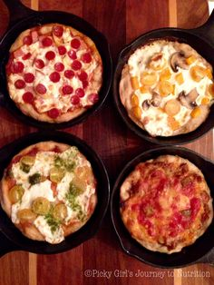 """Hello all!! Last weekend I finally got to go home for a quick visit and what better way to celebrate than with """"Mini Cast Iron Frying Pan Pizzas"""" (wow that's a mouthfull!) They ar…"""
