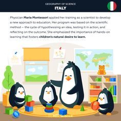This year the world celebrated the 150th birthday of Maria Montessori so we wanted to share with you a part of her history. Subscriptions For Kids, Chemistry Set, Maria Montessori, Hands On Learning, Science Facts, Scientific Method, Geography, How To Apply, Kids Rugs