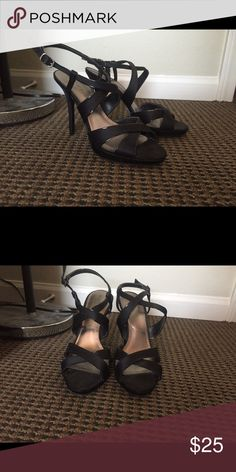 Strappy black heels Katie and Kelly brand strappy heels. Size 10, fits slightly small Katie and Kelly Shoes Heels