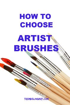 How to Choose Artist Brushes Paint brushes come in all shapes and sizes. Watercolor Tips, Watercolor Artwork, Best Watercolor Brushes, Watercolor Tutorials, Watercolor Landscape, Acrylic Paint Brushes, Using Acrylic Paint, Painting Lessons, Painting Techniques