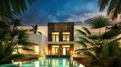 Luxus Villa Blaue Stunde