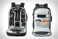 MOCHILA PARA FOTÓGRAFOS - LOWEPRO PRO RUNNER II SERIES  Lowepro lança a nova linha de mochilas para fotógrafos, permite transportar mais equipamentos, dando-lhe mais opções de armazenagem do que nunca.