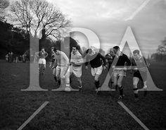 Irish Rugby Football Union, Ireland v Australia, Tour Match, Australian and Irish team practice in College Park, Dublin, Ireland, Tuesday 14th January, 1958, See more photos like this at www.irishphotoarchive.ie #vintage #oldphotos #blackandwhite #film #artistic #finearts #ireland #irishhistory #historyphoto #history University College Dublin, Queen's University, Australia Rugby, Rugby Poster, Irish Rugby, History Photos, Dublin Ireland, Photo Archive, Surrey