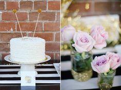 cake + flowers #pretty