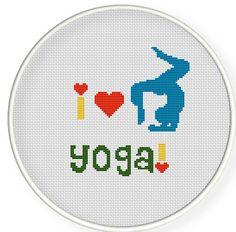 I love yoga.Buy 4 get 1 free Cross stitch pattern Crossstitch by danceneedle, $4.00