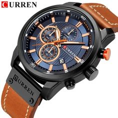 Loyal Mens Watches Top Brand Luxury Fashion Men Date Alloy Case Synthetic Leather Analog Quartz Sport Watch To Have A Long Historical Standing Watches