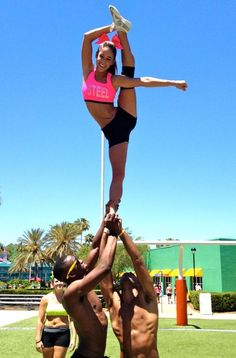 CHEER bow and arrow moved from @Kythoni Cheerleading: Stunts board http://pinterest.com/kythoni/cheerleading-stunts-bow-arrow-heel-stretch-scorpio/ #KyFun cheerleader stunt m.77.442.1 n453