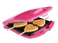 (9) lexyloyal52992's save of Amazon.com: Babycakes Nonstick Waffle Maker Makes 4 Heart Waffles on Sticks: Kitchen & Dining on Wanelo