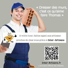 Trouvez un maçon près de chez vous grâce à l'annuaire Inter-Artisans ! https://www.inter-artisans.fr