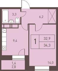 """Продается светлая, уютная однокомнатная квартира в жилом состоянии, санузел совмещенный, балкон, окна во двор, чистый ухоженный подъезд. Квартира в центре города, прекрасная инфраструктура, в шаговой доступности сетевые магазины, спортивный комплекс, детские сады, школа, сбербанк. До платформы """"Железнодорожный"""" 15 минут пешком. Один собственник, более трех лет.<br /> Номер лота: вт-0325323"""