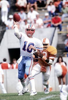 Houston Oilers QB Oliver Luck