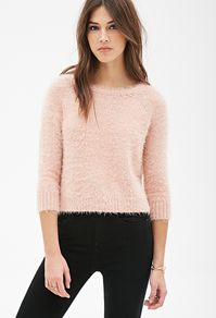 New Arrivals | Forever 21 Canada| Boxy Fuzzy Knit Sweater| Black Leggings|
